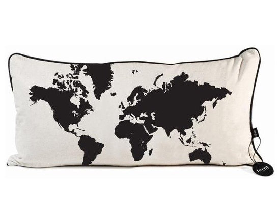 Ferm Living World Map Pillow - With Ferm Living Pillows it is easy to create a new look and change the style in a room in a matter of minutes.