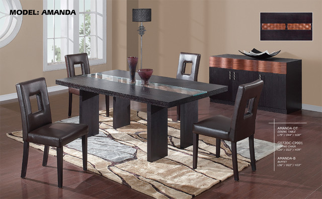 Wood And Glass Top Leather Dining Room Furniture Modern Dining Tables