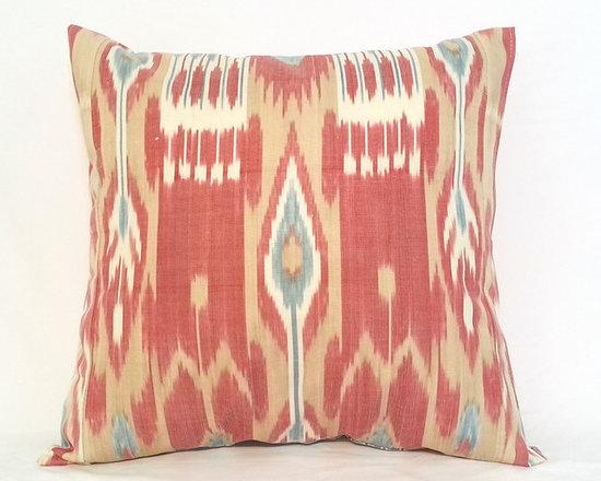 ikat pillow covers, ikat, ikat cushion, yellow ikat, blue ikat, red ikat, ikat - 20x20 ikat cushion