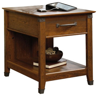 Transitional Side Tables Sauder Carson Forge Smartcenter
