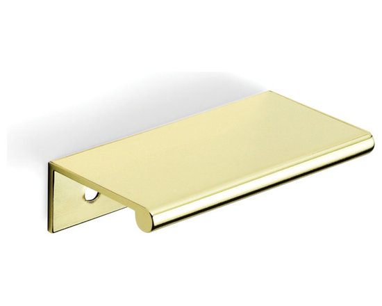 """3"""" Tab Drawer Pull - Metal - Drawer Pulls - At 3"""" long, DP3A is the most popular width in the DP3 series . A sophisticated complement to all styles of furniture and cabinetry. Meets ADA guidelines. Size: 3"""" long, 1 1/2"""" projection, 2"""" on center . 1/2"""" wood screws are included."""