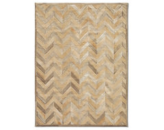 Yves Cowhide Rug - Honey/Wheat by Pure Rugs (Exclusive) contemporary rugs