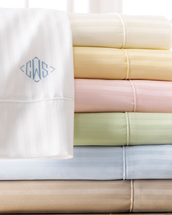 SFERRA Plaza Bed Linens Sheet Set, Mono. traditional-sheets