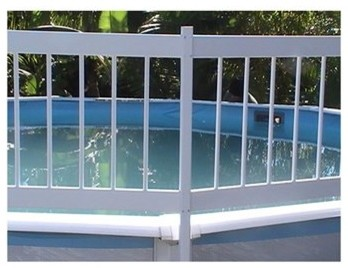 GLI Above Ground Pool 2 Section Fence Add-On Kit modern-home-fencing-and-gates