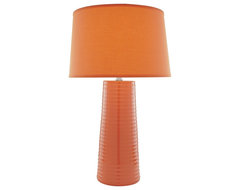 Contemporary Lite Source Orange Peel Ceramic Table Lamp contemporary table lamps