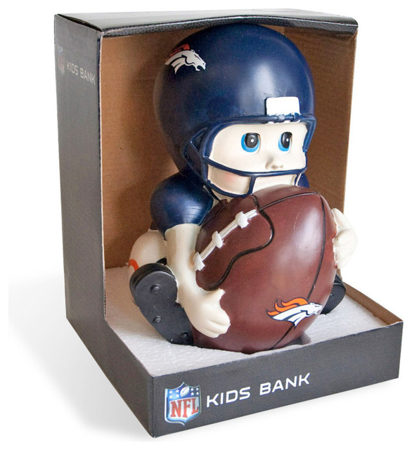 Football Players Toys For Toddlers : Denver broncos kids football player piggy bank