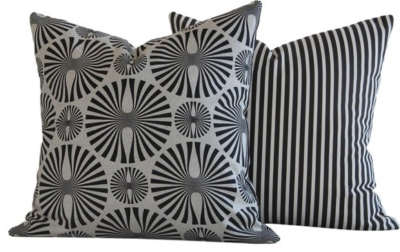 Cirque Figures Collection Decorative Throw Pillow l Chloe and Olive contemporary-decorative-pillows