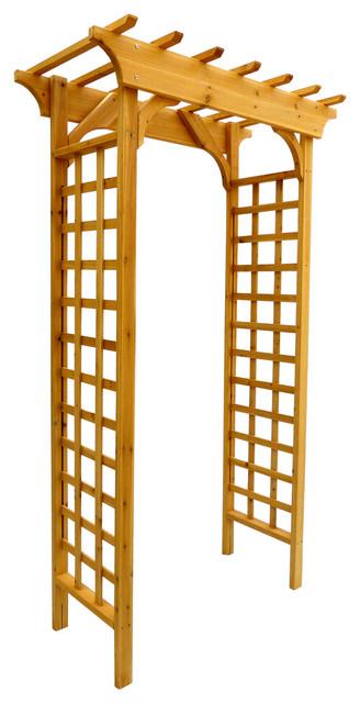 Arbor wooden arch trellis contemporary pergolas arbors for Wooden garden trellis designs