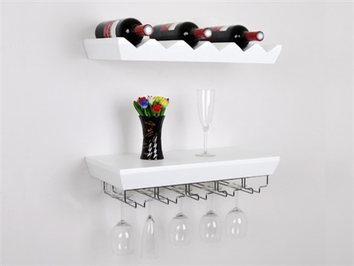 wine racks glass hangers wall display shelf modern. Black Bedroom Furniture Sets. Home Design Ideas