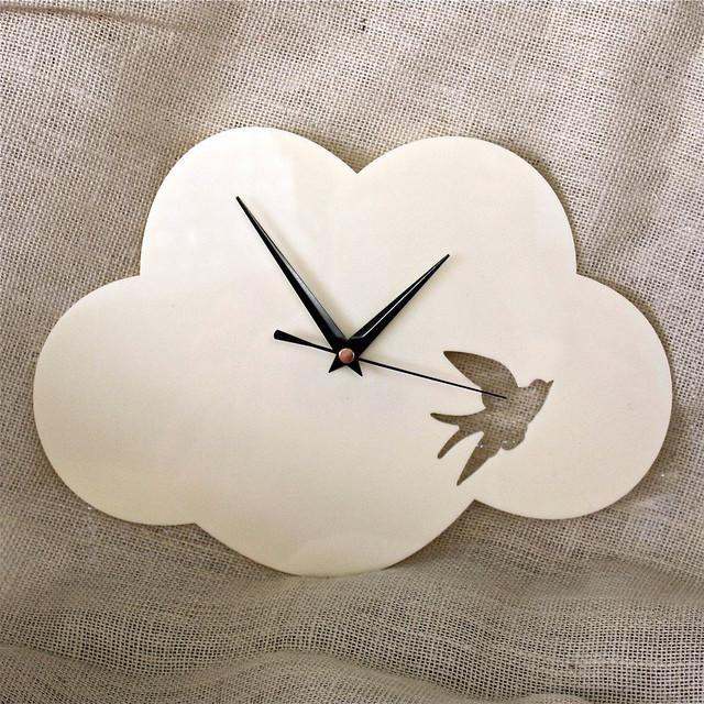 Cloud Clock contemporary-clocks