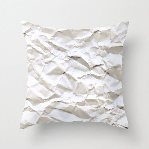 White Trash Throw Pillow - Eclectic - Pillows - by Society6