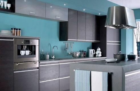 Turquoise Brown Kitchen Jpg