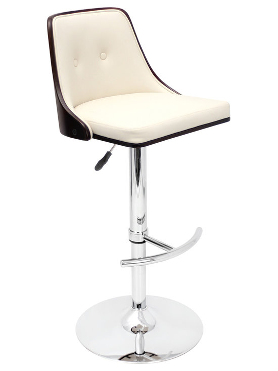 Nueva Bar Stool - WENGE/CREAM