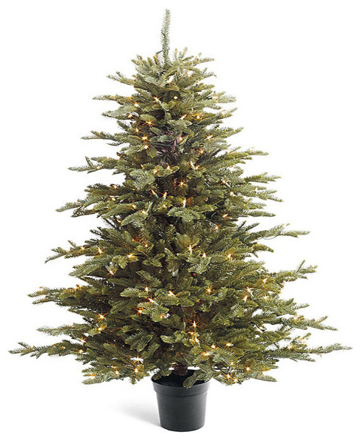 Pre lit deluxe fraser artificial tabletop tree