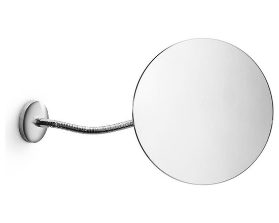 WS Bath Collections - Mirror Pure Mevedo Flexible Arm Wall-Mount Ma - Makeup Magnifying Mirror. Magnification 3 Times. Solid Brass Construction. Made by Lineabeta of Italy. Finish/Color: Polished Chrome. Dimensions: 7.1 in. Diameter