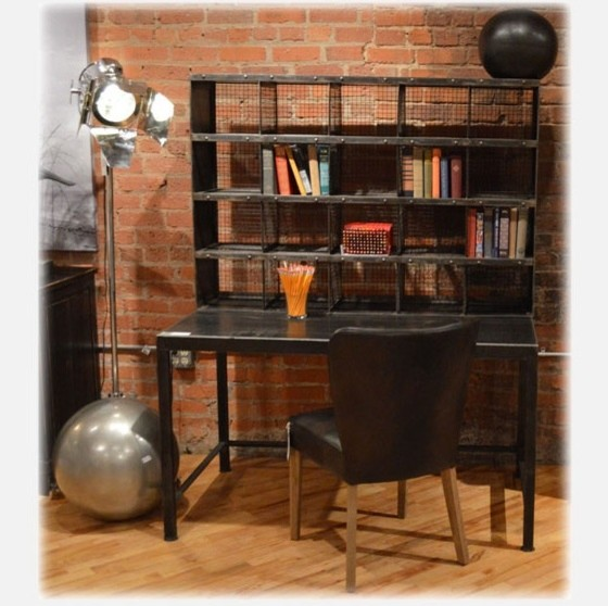 industrial home office industrial desks and hutches