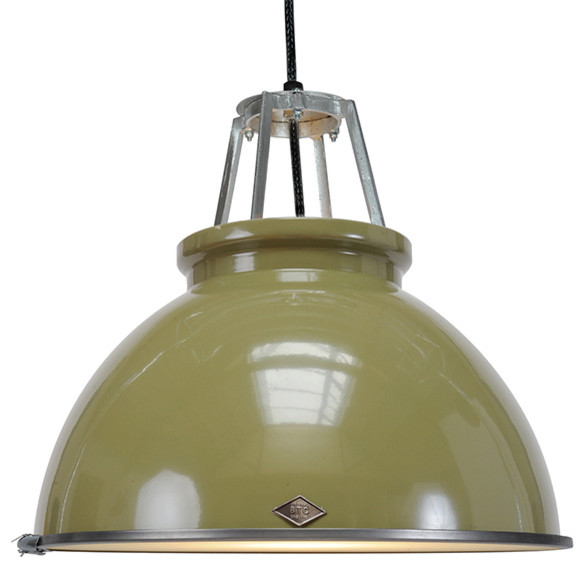 Original BTC - Titan 3 Pendant & Diffuser in Olive contemporary-pendant-lighting