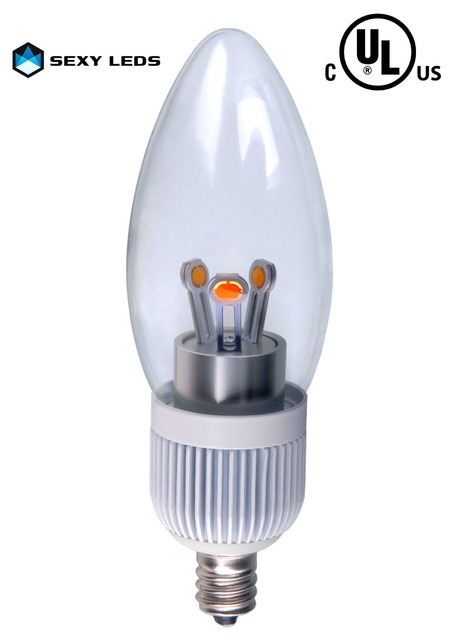 UL Listed LED Candelabra Light Bulb contemporary-chandeliers