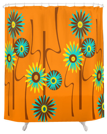 Mid Century  Modern Shower Curtain - Alastair contemporary-shower-curtains