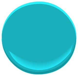 Cool Aqua Paint - Traditional - Paint - by Benjamin Moore