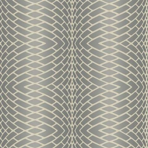 Grey Impulse Textured Striped Wallpaper Contemporary Wallpaper