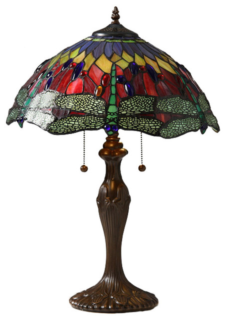 Tiffany Style Dragonfly Table Lamp traditional-table-lamps