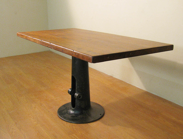 Vintage Industrial Butcher Block Dining Table Industrial Furniture