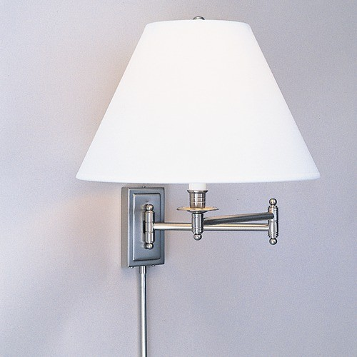 Kinetic  Swing Arm Wall Lamp in Brushed Chrome modern-swing-arm-wall-lamps