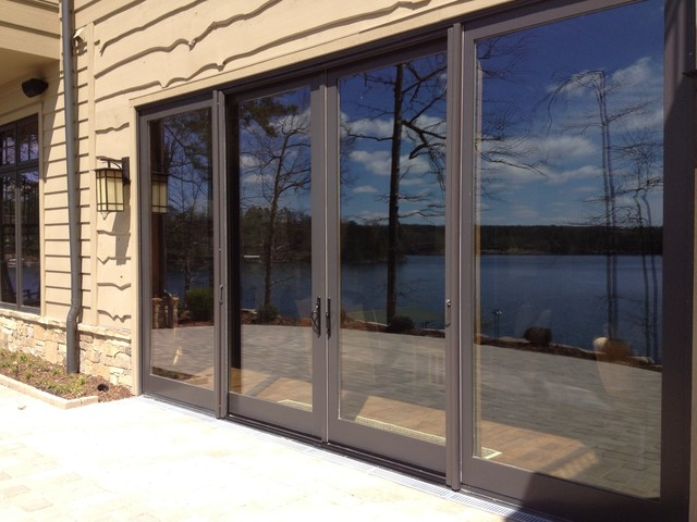 Large 96 39 x109 sliding glass doors with retractable for Sliding glass front door