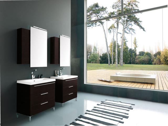 Archeda 1 Vanity And Mirror Cabinet modernbathroomvanitiesandsink