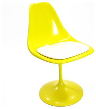 Vintage Yellow Tulip Chair by Housing Authority midcentury-living-room-chairs