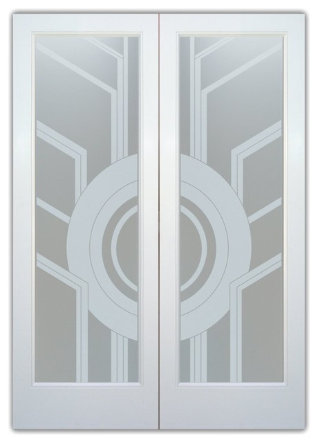 Glass Front Entry Doors - Frosted Obscure Etched Glass - Sun Odyssey Frosted pri contemporary-front-doors