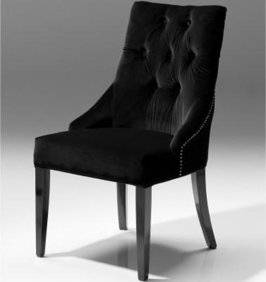 Veuve Dining Chair - Black Velvet - Set of 2 modern-dining-chairs