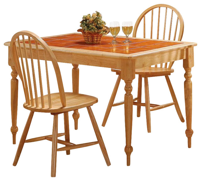 Coaster Damen Rectangular Tile Top Dining Table In Warm