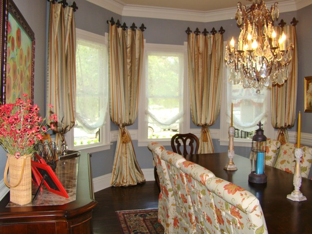 Custom drapery panels traditional window treatments