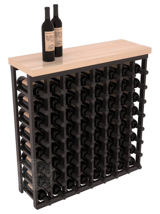 "Wine Racks America - Tasting Table Wine Rack Kit with Butcher Block Top in Redwood - The quintessential wine cellar bar; this wooden wine rack is a perfect way to create discrete wine storage in shallow areas. Includes a 35"" Butcher Block Top that helps you create an intimate tasting table. We build this rack to our industry leading standards and your satisfaction is guaranteed."