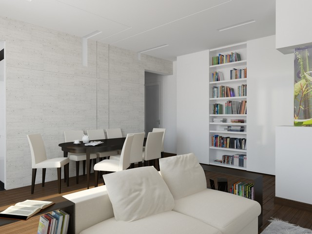 Apartment on Leninskiy Ave. in Moscow, Russia contemporary-rendering