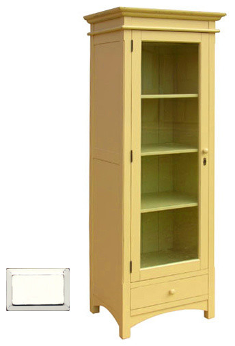 Narrow Cottage Display Cupboard, White - Farmhouse - Storage Cabinets - by Custom Furniture World