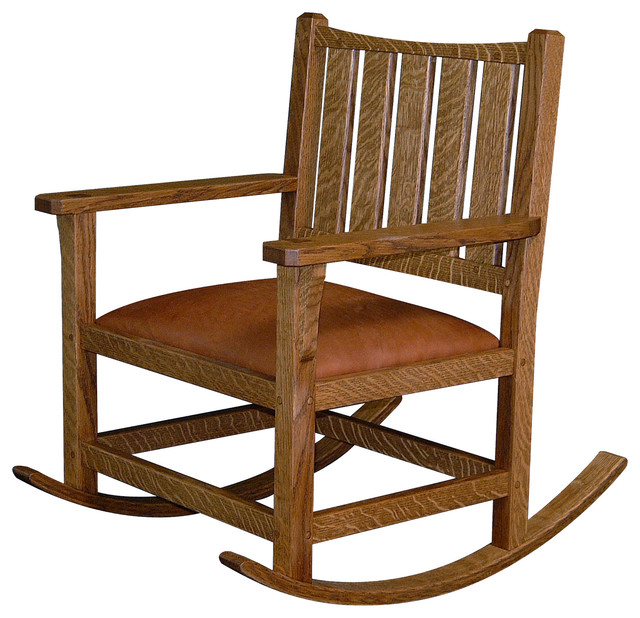 Arts and Crafts Rocking Chair - traditional - rocking chairs