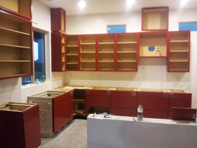 Phoenix Kitchen Contractor Remodel Red Cabinets Modern Phoenix By Kitch