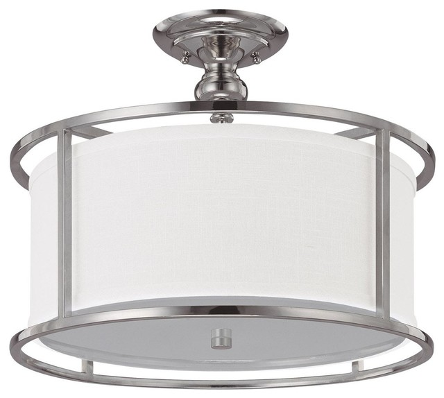 3 Light Semi-Flush Fixture - modern - bathroom lighting and vanity ...