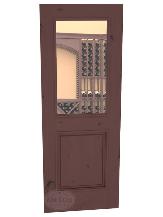 CellarSelect™ Wine Cellar Door: Chardonnay Half Lite (Walnut Stain with Lacquer) -