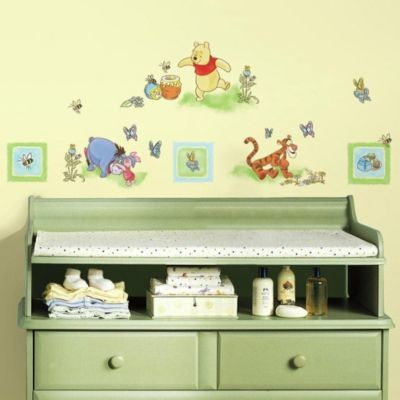 Winnie The Pooh Peel Stick Wall Decals Contemporary Nursery Decor