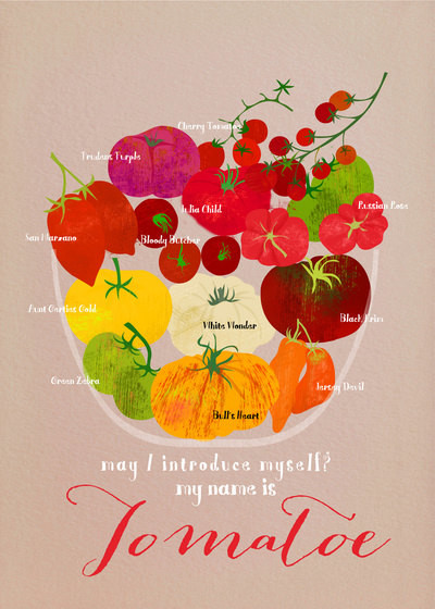 Heirloom Tomatoes Limited-edition Art Print by Elisandra Sevenstar contemporary-prints-and-posters