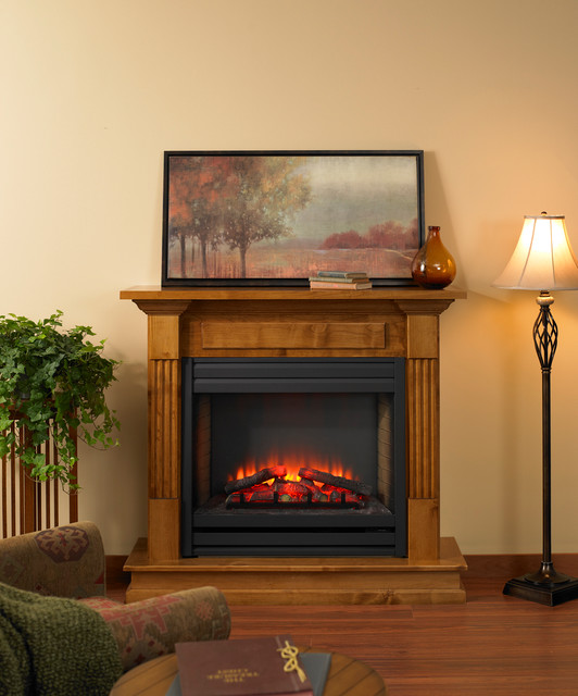 Built In Electric Fireplace Contemporary Indoor Fireplaces Other Metro By The Outdoor
