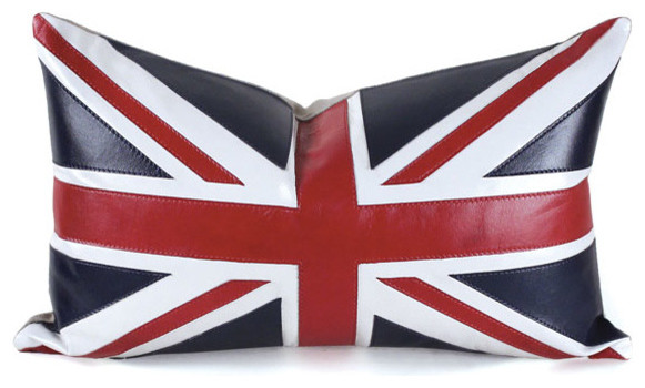 Union Jack Pillow, 12x20 eclectic-decorative-pillows