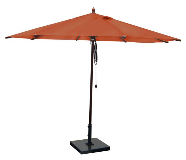 mahogany outdoor patio umbrella terra cotta