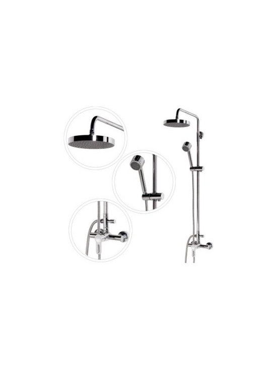 Shower Faucets - Amazing Rainshower Shower Suit with Handshower and Shower Heads--FaucetSuperDeal.com