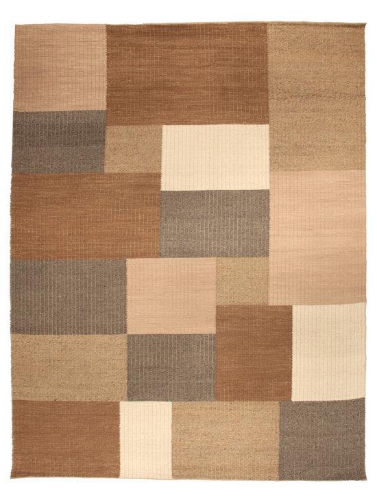"Unique modern rugs - Tulu Nadu ""The Carmel Streppe"" N10350"