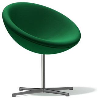Panton C1 Lounge Chair, Green Tonus Wool modern-chairs